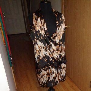 Derek Lam Rio Drape Dress Crossover L